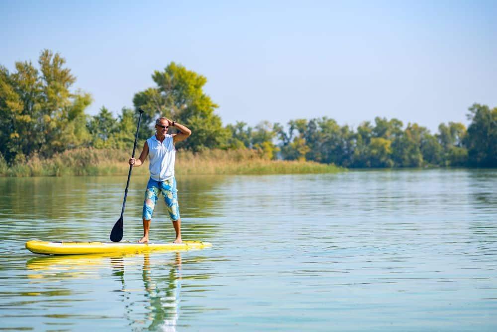 Paddle Boards on Lake