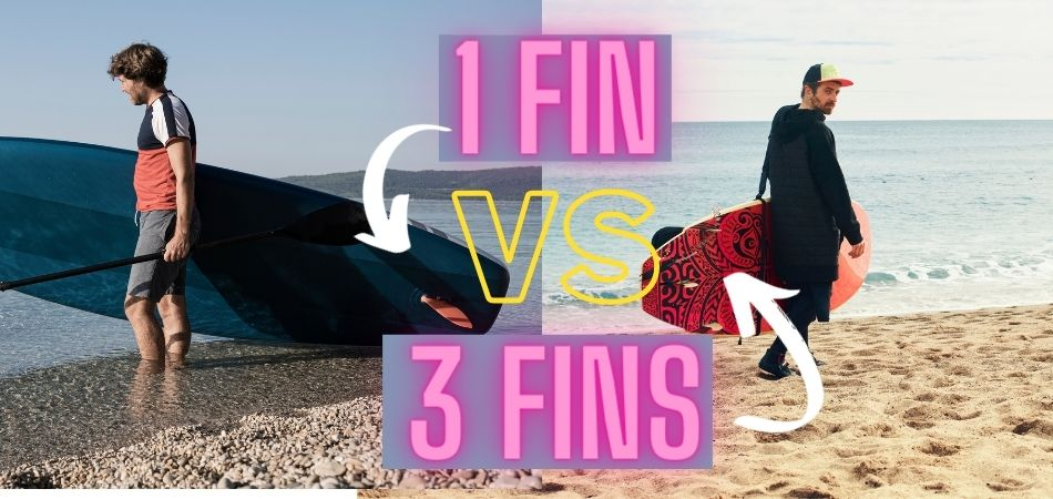 The Difference Between 1 Fin VS 3 Fin Paddle Board